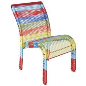 Photo NFE1460 : Chaise enfant en polyrésine et métal laqué multicolore