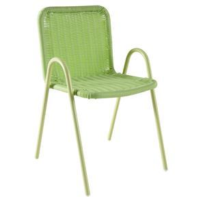 Photo NFE1480 : Chaise enfant en polyrésine et métal laqué verte