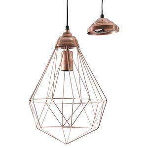 Photo NLA2050 : Lampe suspension en métal cuivré antique