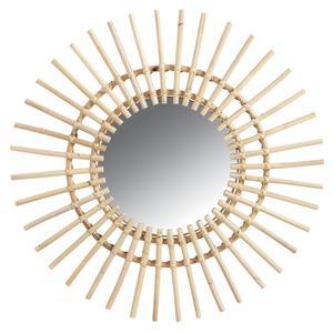 Photo NMI1410V : Miroir soleil en rotin
