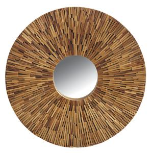 Photo NMI1430V : Miroir en teck recyclé