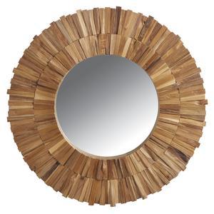 Photo NMI1440V : Miroir en teck recyclé