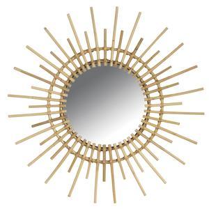 Photo NMI1460V : Miroir soleil en rotin