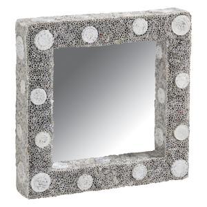 Photo NMI1470V : Miroir carré en papier recyclé