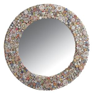 Photo NMI1490V : Miroir rond en papier recyclé