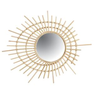 Photo NMI1510V : Miroir spirale en rotin