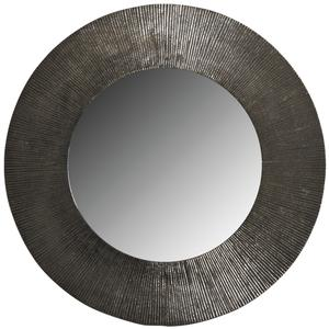 Photo NMI1630V : Miroir rond en métal zinc antique