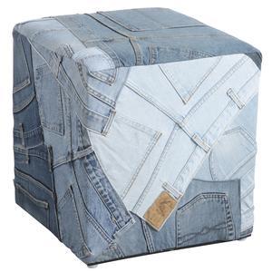 Photo NPO1191 : Pouf carré en jean