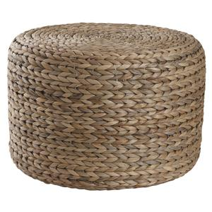 Photo NPO1270 : Pouf rond en jacinthe