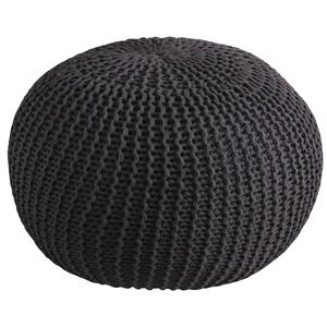 Photo NPO1330 : Pouf boule en coton gris