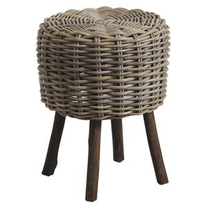 Photo NPO1370 : Grey pulut rattan and wood stool