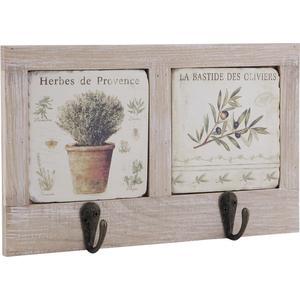 Photo NPT1220 : Patères en bois et céramique Provence