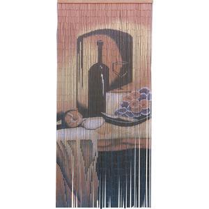 Photo NRI1400 : Rideau de porte en bambou