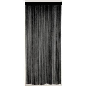Photo NRI1480 : Black polycotton door curtain