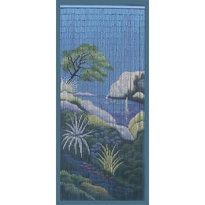 Photo NRI1590 : Rideau de porte calanque en bambou