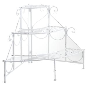 Photo NSE1570 : Old white metal plant stand
