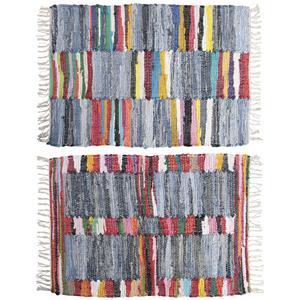 Photo NTA1720 : Tapis en coton multicolore