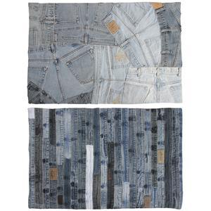 Photo NTA1750 : Tapis en jean recyclé