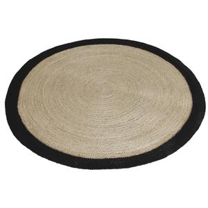 Photo NTA1812 : Round jute floor mat with black edge