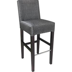 Photo NTB1350 : Tabouret de bar en loom et acajou
