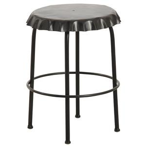 Photo NTB1690 : Black metal cap stool