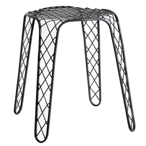 Photo NTB1700 : Antique black metal stool