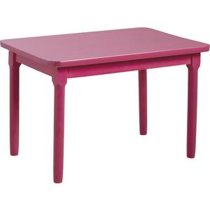 Photo NTE1140 : Table enfant en hêtre laqué framboise