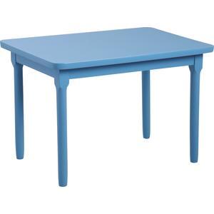 Photo NTE1150 : Table enfant en hêtre laqué bleu ciel