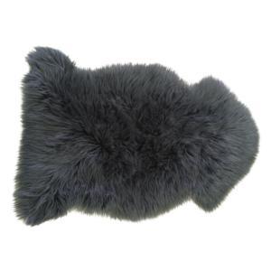 Photo NTX1150C : Jeté de canapé en fausse fourrure gris