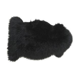 Photo NTX1160C : Jeté de canapé en fausse fourrure noir