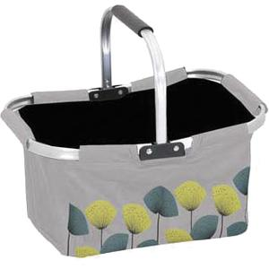 Photo PAM2340 : Polyester and aluminium basket with movable handle