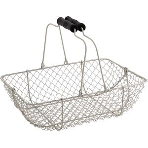 Photo PAM2570 : Old white wire basket with movable handles