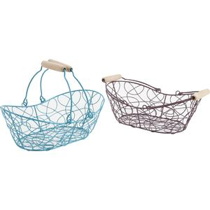 Photo PAM2810 : Metal basket with movable handles