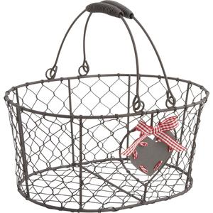 Photo PAM2820 : Rusty wire basket with movable handles