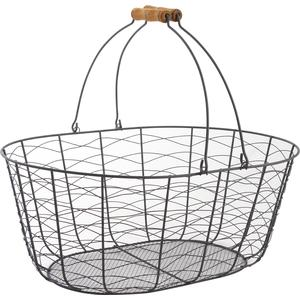 Photo PAM2880 : Metal basket with movable handles