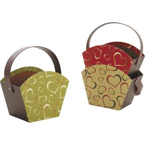 Photo PAM3000 : Mini cardboard basket with movable handle