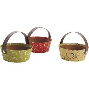 Photo PAM3010 : Mini cardboard basket with movable handle