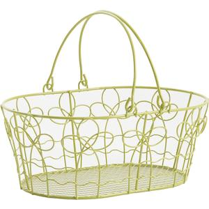 Photo PAM3140 : Lacquered metal basket with movable handles