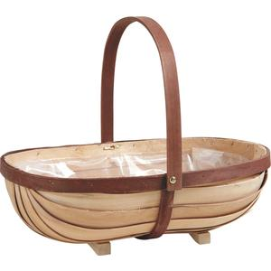 Photo PAM3170P : Wooden basket with movable handle