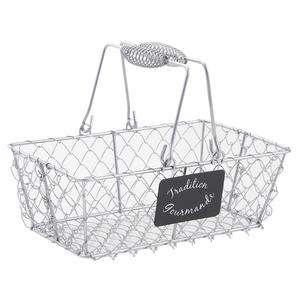 Photo PAM3210 : Panier en grillage argent