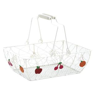 Photo PAM3250 : Lacquered metal basket with fruits