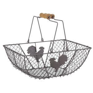 Photo PAM3310 : Vintage wire basket with cock design