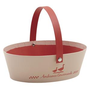 Photo PAM4420 : Oval cardboard basket with handle Ambiance Gourmande