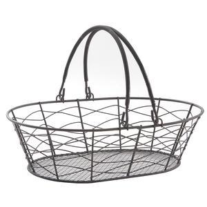 Photo PAM4460 : Vintage metal basket with handles