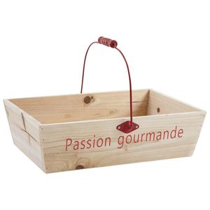 Photo PAM4480 : Panier en bois Passion Gourmande