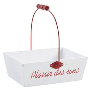 Photo PAM4490 : Lacquered wood basket with handle Plaisir des Sens