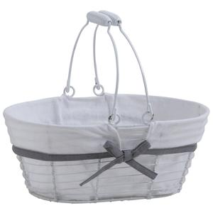 Photo PAM4580C : White lacquered metal basket