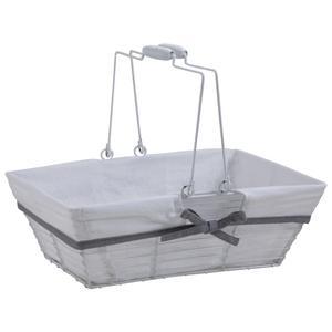Photo PAM4590C : White lacquered metal rectangular basket