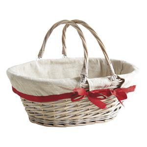 Photo PAM4600J : Oval stained half willow basket
