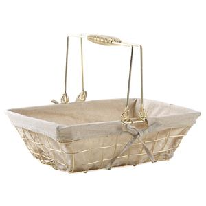 Photo PAM4700J : Gold metal basket with movable handles
